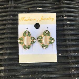 Green & Gold Earrings ☘️